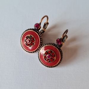 Stunning Red Unique Drop Earrings